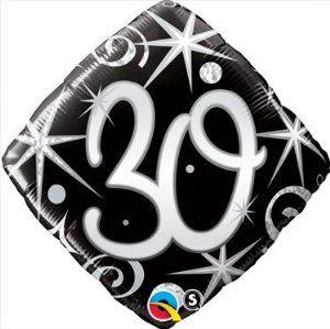 Elegant 30th Birthday Balloon, Black and Silver 30th Birthday Mylar Balloon by Qualatex. $2.99. Elegant 30th Birthday Balloon Black and Silver 30th Birthday Mylar Balloon