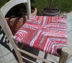 Résultats de recherche d'images pour «rempaillage chaise avec tissu»