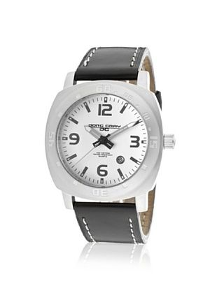 74% OFF Jorg Gray Men's JG1020-13 Black/Silver Leather Watch