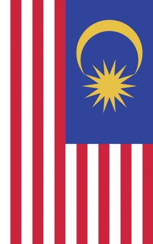 Malaysia flag bag tag. Wear it loud and proud as you travel the globe with our personalised bag and luggage tags designed and printed in Melbourne shipped to the world.