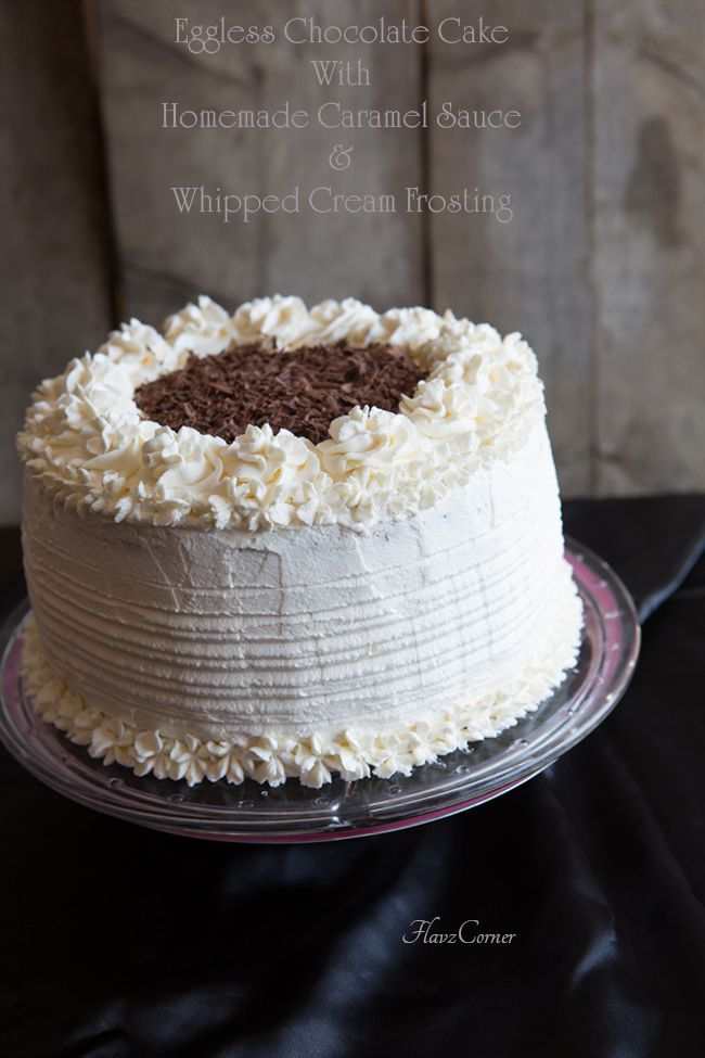 Eggless Chocolate Cream Cake Recipe