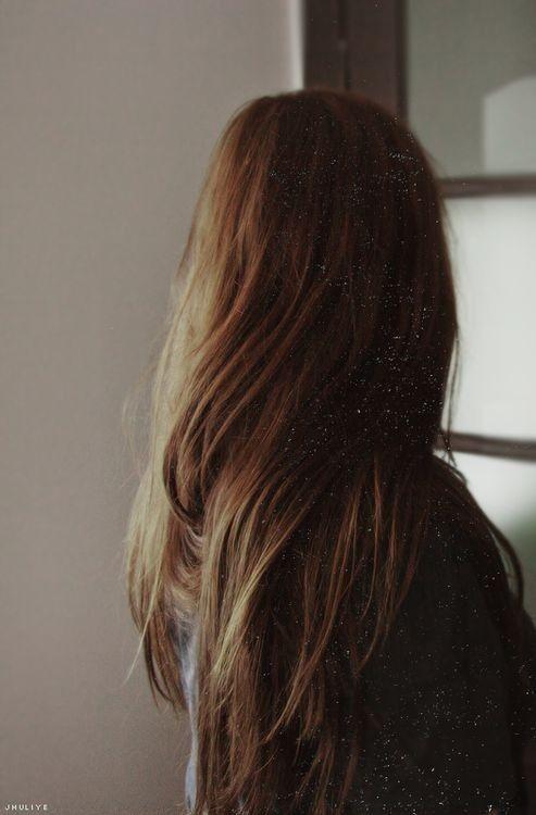 Long brown straight hair