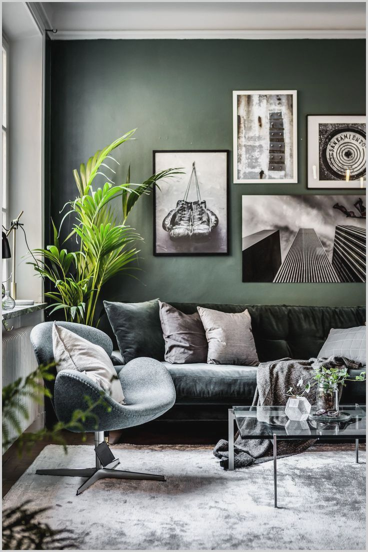 Green And Grey Living Room Decor Contemporary Living Room Design Living Room Grey Living Room Scandinavian