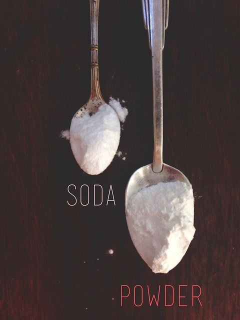 The difference between baking soda and baking powder.