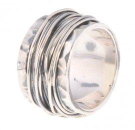Robuste ring van 925 sterling zilver geoxideerd in draad gewikkeld Jéh Jewels   € 122,50
