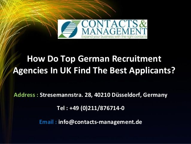 How Do Top German Recruitment Agencies In UK Find The Best Applicants?  >>>  Each and every recruitment project brings with it certain direct as well as indirect recruitment costs and these costs add up when the German recruitment agencies in UK fill the roles that require specialized qualification.  #German #RecruitmentAgencies