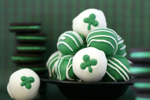 mint oreo balls for st pattys day!
