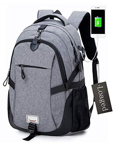 Anti-theft Laptop Backpack Loaged Business Bags with USB Charging Port Water  Resistant School Bookbag for College Travel Backpack for 15.6-Inch Laptop  and ... 32130a4372b06