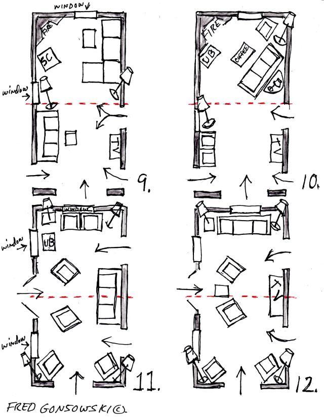 Floorplan options #3 for long narrow living room
