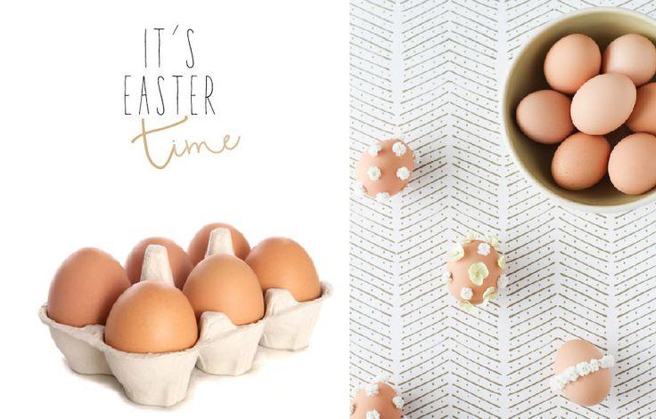 Un facile progetto DIY per decorare le uova con tanti fiorellini