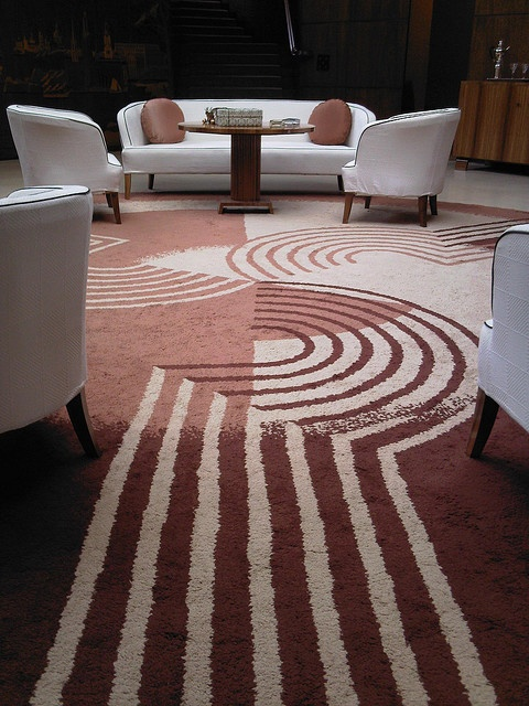 Carpet by Marion Dorn, at Eltham Palace