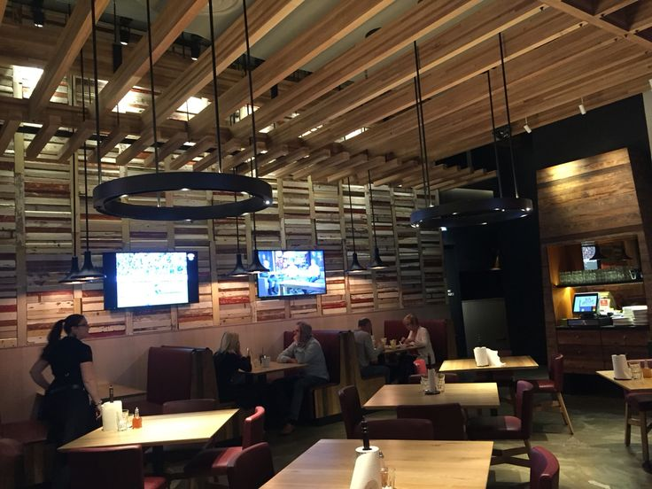 Photo 1. Found this fantastic restaurant at crown casino Melbourne called San Antone.  The back wall was the original restaurants wall prior however these look like they are from shutters that have been stripped back. Great effect along with the ceiling wood stacked panels.