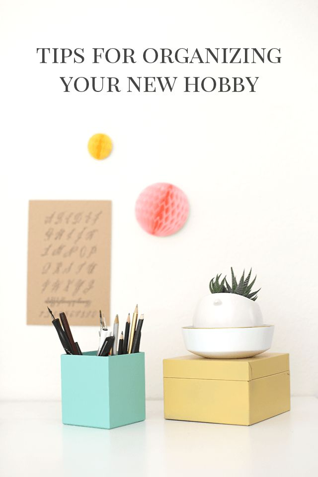 6 TIPS for Organizing a New Hobby Like Calligraphy, Knitting, Photography, or Watercolor Painting! #michaelsmakers #madewithmichaels