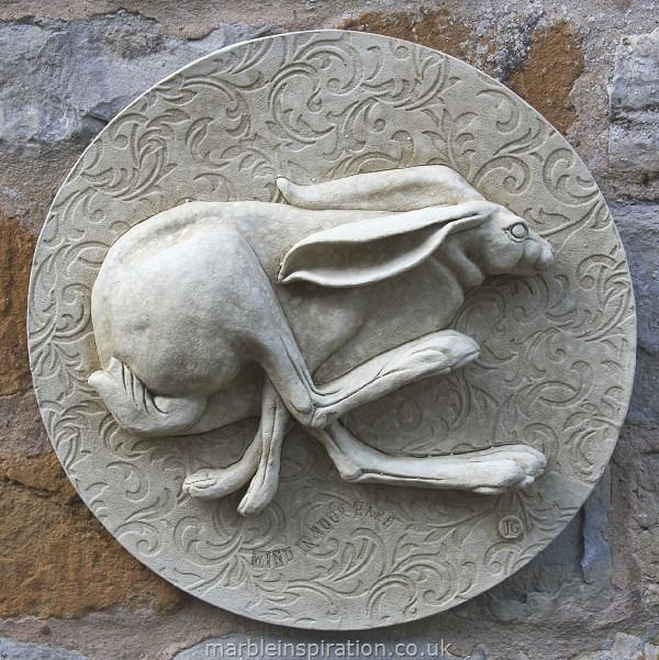Attractive Garden Wall Plaques : Animal Wall Plaques : Hare Wall Plaque U0027Wind In Your  Hare