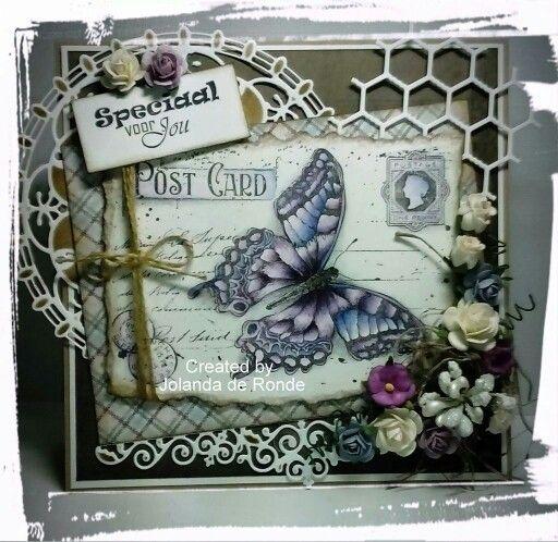 Noor! Design butterfly stempel