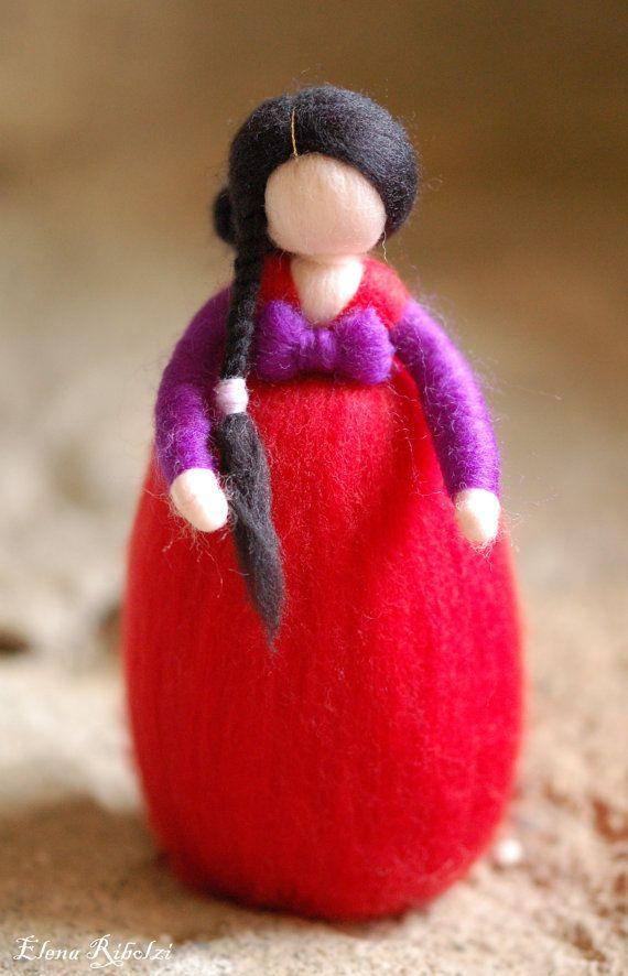 Kichi, in lana fiaba ispirazione Waldorf