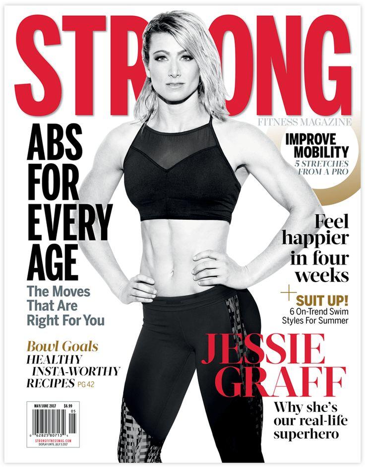 American Ninja Warrior Jessie Graff in the May/June Issue of STRONG Fitness Magazine #superhero #jessiegraff #americanninjawarrior