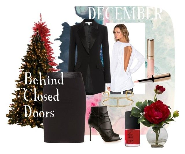 """""""December"""" by magazineboy on Polyvore featuring Vimmia, Diane Von Furstenberg, Manon Baptiste, Gianvito Rossi, NARS Cosmetics, Nearly Natural and By Terry"""