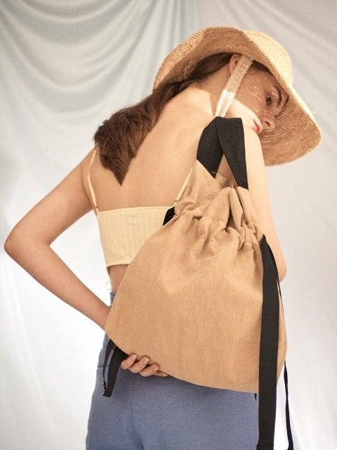 AWESOME NEEDS LINEN ECO BAG_BEIGE