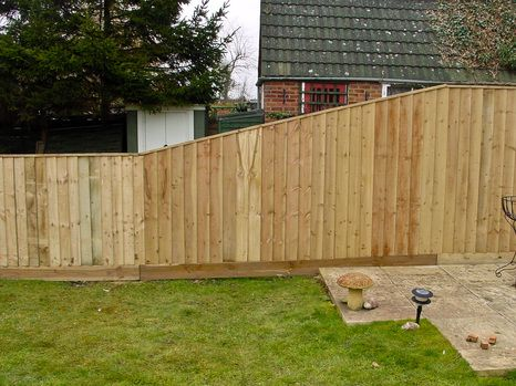 Image result for close board fence ON SLOPE with trellis