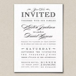 wedding invitation examples, Wedding invitations