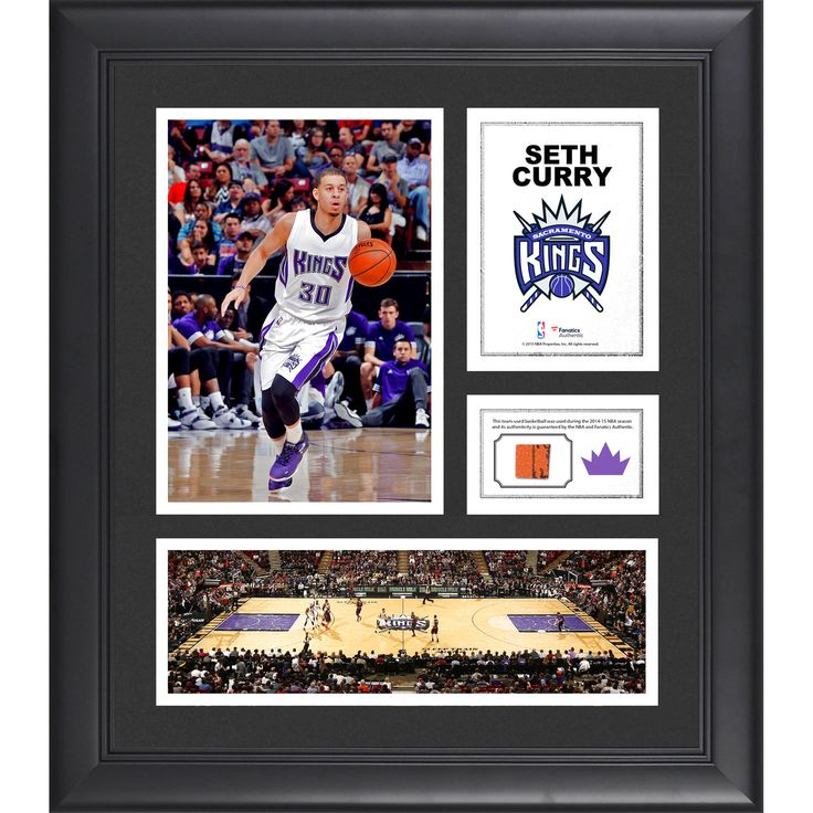 "Seth Curry Sacramento Kings Fanatics Authentic Framed 15"" x 17"" Collage with Team-Used Ball - $63.99"