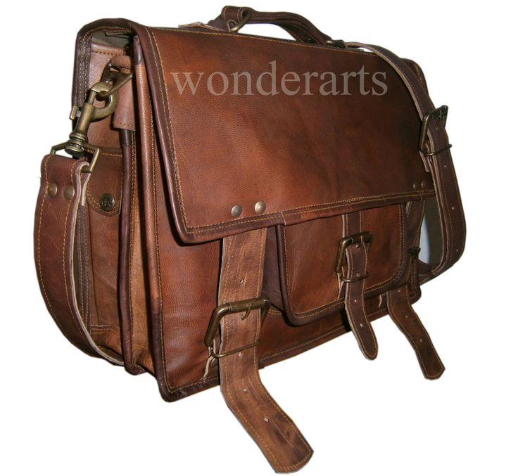 Vintage Leather Bags  (for men & women). via Etsy.