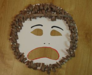 Actors in Greek theatre wore masks to depict different characters and emotions. Make your own