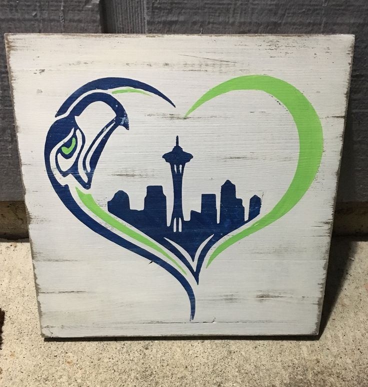 Seattle Seahawks, Seahawks heart, seattle skyline, football, 12 man love, seahawks, rustic wood sign by DivaReclaimed on Etsy https://www.etsy.com/listing/489844515/seattle-seahawks-seahawks-heart-seattle