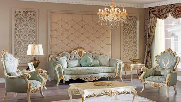 Masiva Lüks Klasik Koltuk Takımı #Koltuk #Moda #Dekorasyon #Decoration #Home #SofaSet #LivingRoom #Mobilya #Furniture
