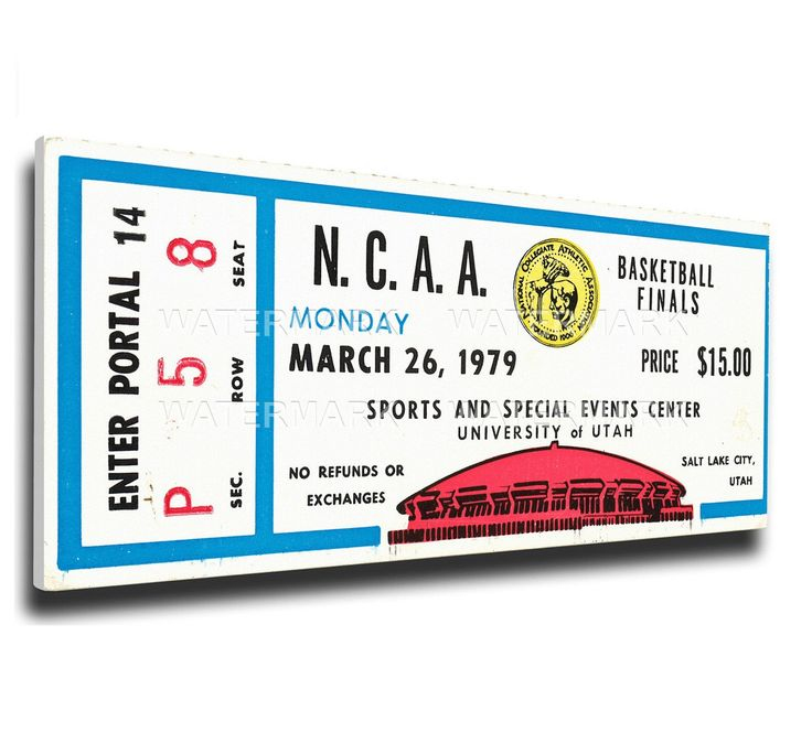 Michigan State Spartans Wall Art - 1979 NCAA Basketball Finals Canvas Mega Ticket