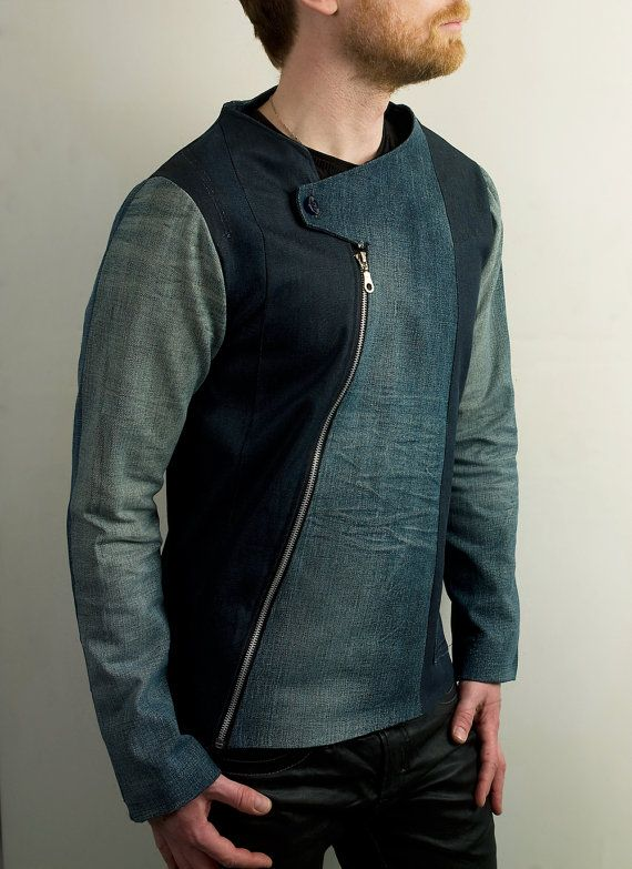 Asymmetrical denim jacket with a comfortable and stylish fit. Perfect for those in between seasons, cool summer evenings and even for layering during