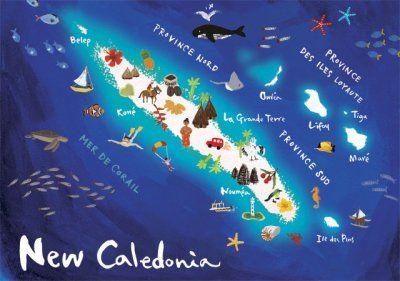 carte postale de nouvelle calédonie