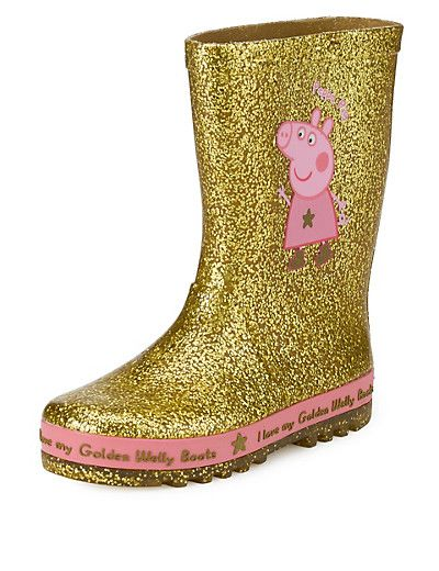 Our friends at Marks & Spencer have the ultimate accessory: Peppa's golden wellies!