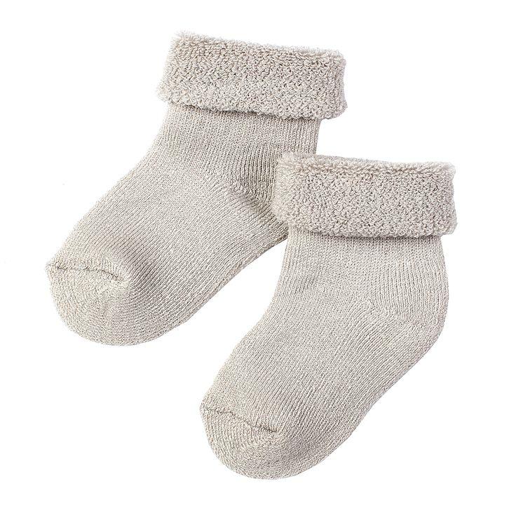Brune baby sokker i størrelse 20-22