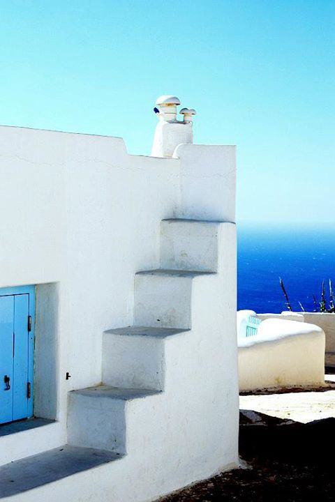 shapes steps ~ island of Anafi Greece Art Architecture