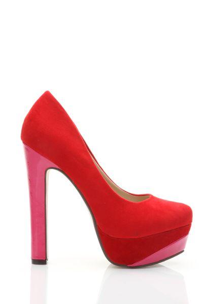 Velour Colour Platform Shoes