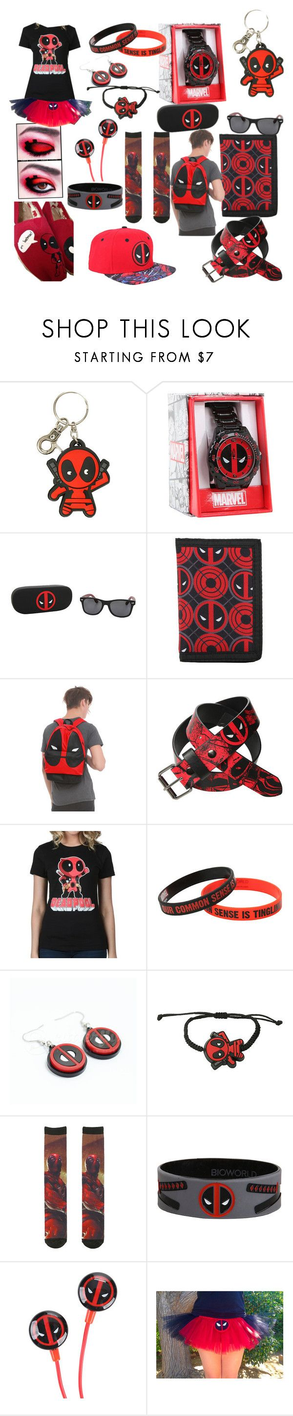 """Dead pool"" by ladykay02 ❤ liked on Polyvore featuring TOMS, women's clothing, women, female, woman, misses and juniors"