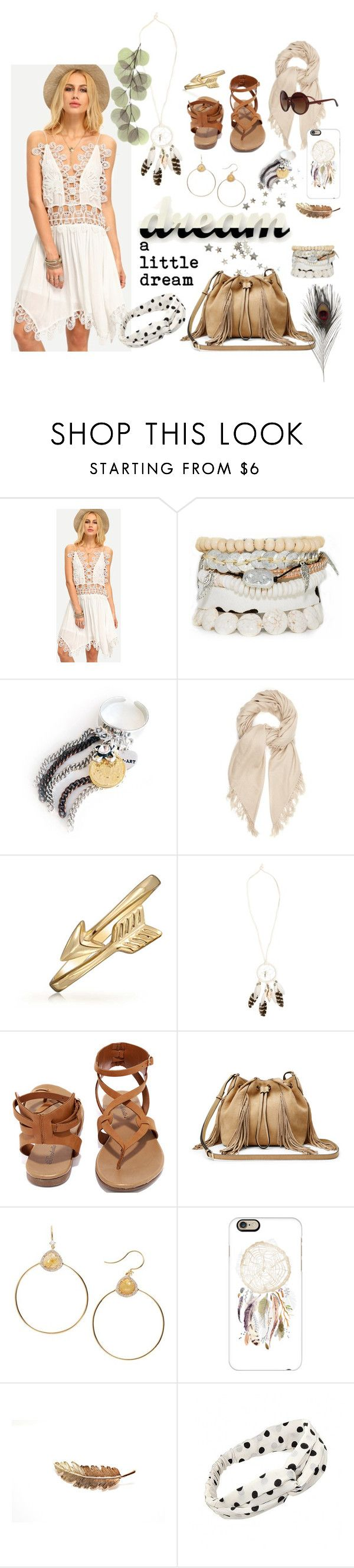 """Dream a little dream"" by iwona-estera on Polyvore featuring Isabel Marant, Bling Jewelry, WILD & FREE, Breckelle's, Diane Von Furstenberg, Nadri, Casetify and Trio Eyewear"