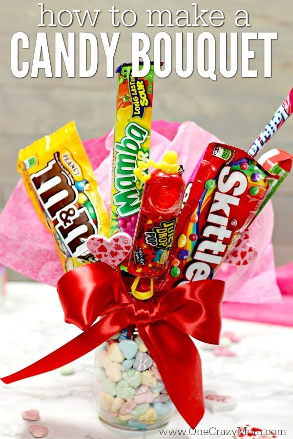 Candy Bouquet Diy Easy Candy Gift Basket Candy