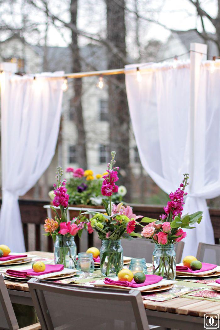 Beautiful Patio   Deck Makeover   Outdoor Entertaining   Outdoor Space   Tablescape   al fresco www.charmingincharlotte.com