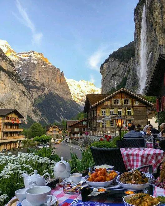 Dinner in Lauterbrunnen Switzerland