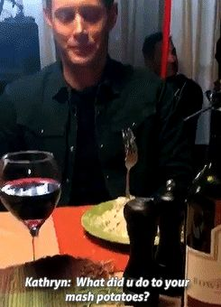 suckmywinchester: Kathryn Newton tweeted: @JensenAckles what did u do to Ur mash potatoes?????:/ @cw_spn #dontyouforgetaboutme