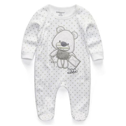 Ползунки для  Новорожденных Одежда С Длинным Рукавом Для Младенцев