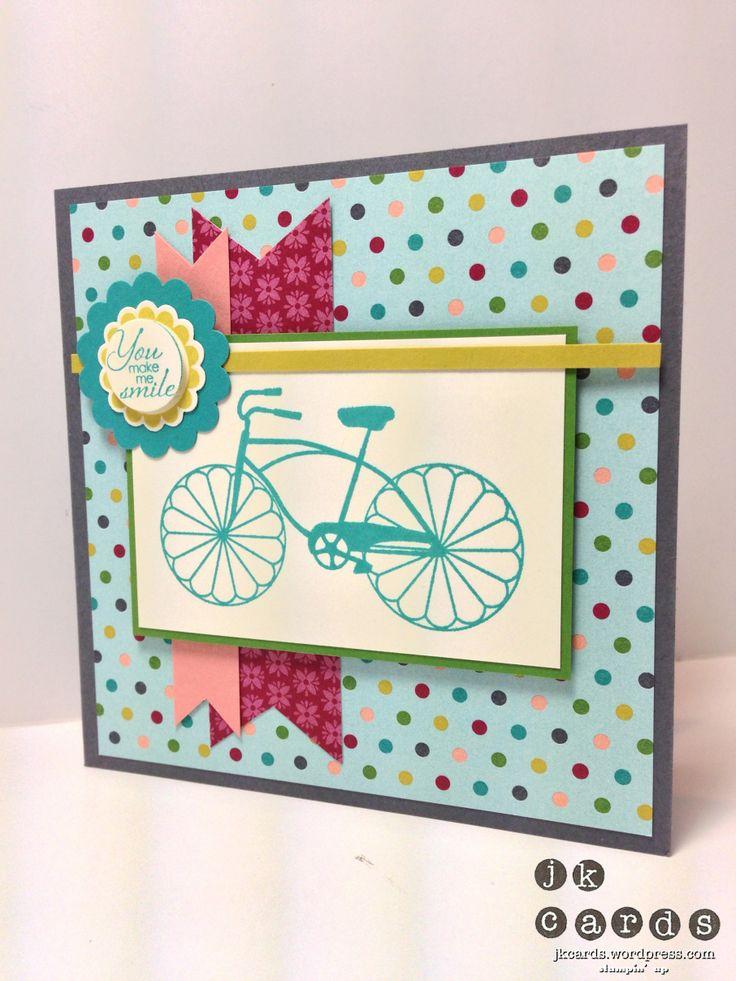 Cycle Celebration set.  Fun card!