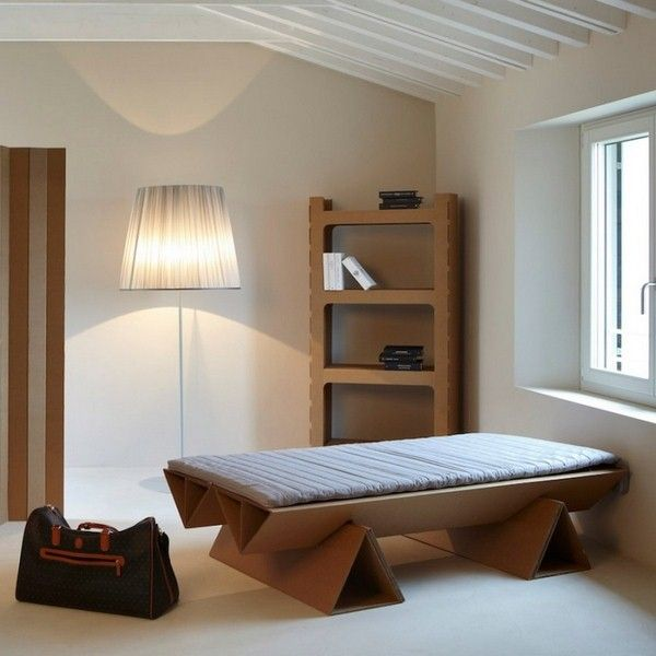 Furniture from Cardboard bedroom set ideas bed