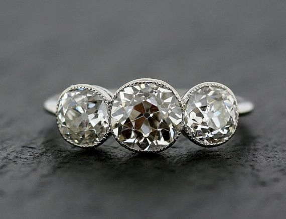 Best 10 Antique diamond rings ideas on Pinterest