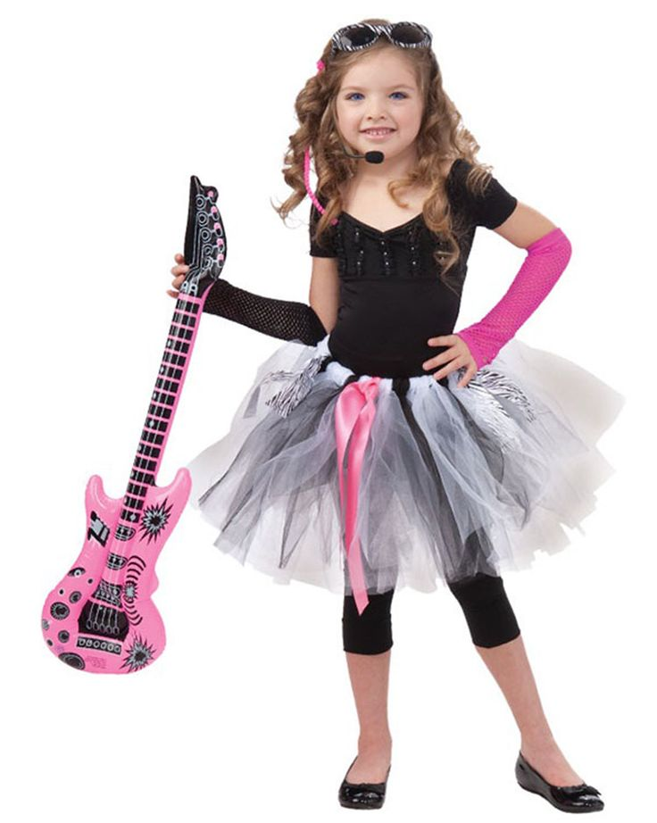 rock star outfits for girls | Girls Tutu Rock Star Costume - Kids Costumes