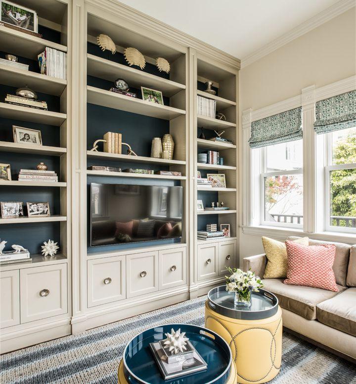 built-ins + shelf styling