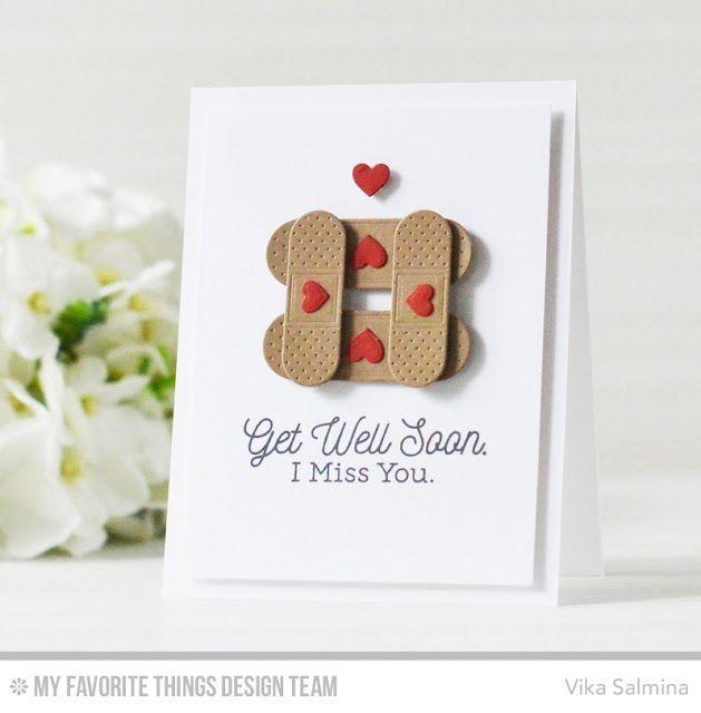 Feel Better Stamp Set, Band-Aids Die-namics - Vika Salmina  #mftstamps